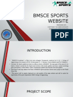Bmsce Sports Website