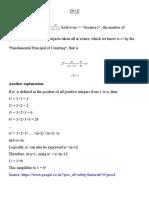 Explanation of Zero Factorial