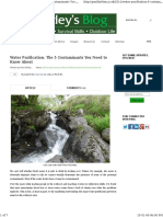 491 Water Purification the Five Contaminants