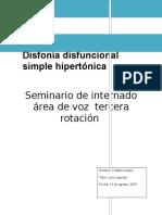Disfonía Funcional Hipertónica