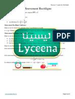 Physique - 3° Th Sc M - Mvt Rectiligne - Cours.pdf