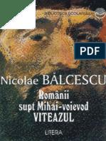 Balcescu Nicolae - Romanii Supt Mihai-Voievod (Tabel Crono)