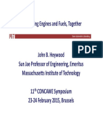 ConcaweSymposium_Prof. Heywood_Improving Engines and Fuels