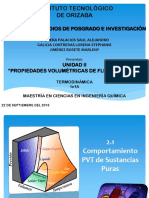 PROPIEDADES VOLUMÉTRICAS DE FLUIDOS PUROS