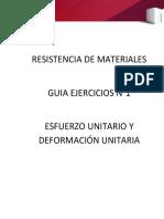 Resistencia de Materiales Guia Ejercicis