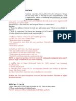 IBT Outline