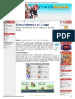 Completemos El Juego - Guía Pokémon Rojo Fuego y Verde Hoja __ FrenteBatalla
