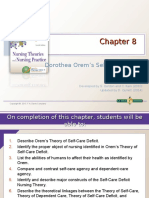 chapter 8  dorothea orems self-care deficit nursing theory