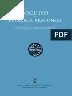 """Inst,Fernando El Católico, """"Archivo de Filología Aragonesa"""",Zaragoza,2013,Vol. 63"""
