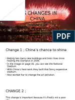 Big Changes in China