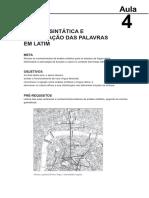 15292124022014Fundamentos de Lingua Latina Aula 4