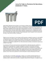 Ofertas Osmosis Inversa En Toda La Provincia De Barcelona, Instalación, Mantenimiento Y Venta.