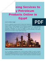 Processing Services to Buy Petroleum Products Online in Egypt