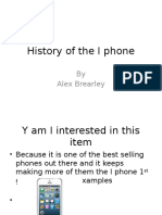 history of the i phone