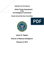 DNI Threat Assessment 2016