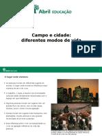 PPT EFI Educação História VidaCampoCidade