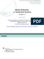 model reduction for dynamical systems 1
