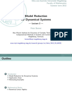 model reduction for dynamical systems 2