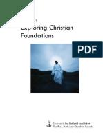 Following Jesus - Exploring Christan Foundations