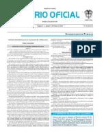 Diario oficial de Colombia n° 49.778 06 de febrero de 2016
