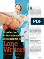 Documentation Mgmt for a Lone Writer