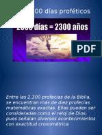 Los 2,300 Días Proféticos