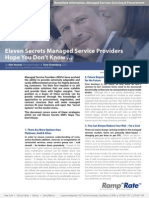 Eleven Secrets Managed Service Providers Hope You Don't Know