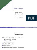 Lecture statistics Cambridge