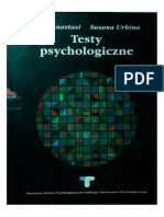 A. Anastasi, S. Urbina - Testy Psychologiczne