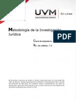 Metodologia de La Inv Juridica UVM