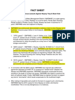 2 FACT SHEET SWFWMD Lawsuits Against Sport Shooting Ranges..