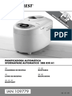 Panificadora Lidl Recetas 109779 Rezeptheft ES IT PT