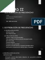 UNIDAD II - Distribución de Frecuencias