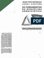 Os Fundamentos Da Disciplina Arquivistica