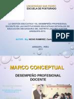 GESTION_EDUCATIVA y Desempeño Docente
