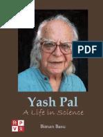 Yash Pal. A Life in Science by Biman Basu
