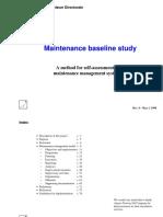 Maintenance Baseline Assessment