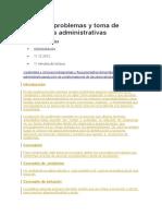 SoLución de Problemas y Toma de Decisiones Administrativas