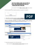 Guía Para Solucionar Posibles Inconvenientes en La Evaluación Online