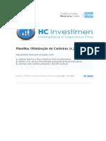 Planilha Financeira - Otimização de Carteiras