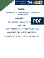 Características y Operaciones de Puertos Estándar