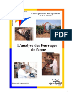 Analyse Des Fourrages de Ferme - Province Du Brabant Wallon