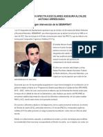 Contaminacion Afecta a Escolares Asegura Alcalde Antonio Arredondo