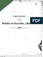 Relación Completa de Las Batallas de Chorrillos y Miraflores. Escrita en El Teatro de La Guerra Por El Corresponsal de La Patria. (1881)