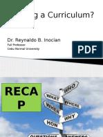 3 Intended Curriculum