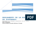 REGLAMENTO POSTGRADO