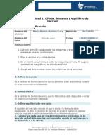 MIII-U2- Actividad 1. Oferta, Demanda y Equilibrio de Mercado