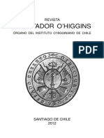 Revista Libertador O'Higgins. Órgano Del Instituto O'Higginiano de Chile. (2012)