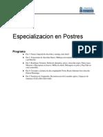 Especializacion en Postres