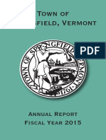Springfield, Vermont Annual Report 2015